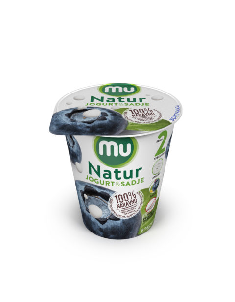 Mu Natur yoghurt; blueberry