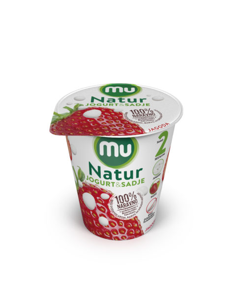 Mu Natur yoghurt; strawberry