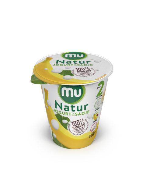 Mu Natur yoghurt; banana