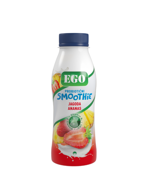 Ego Smoothie, strawberry, pineapple