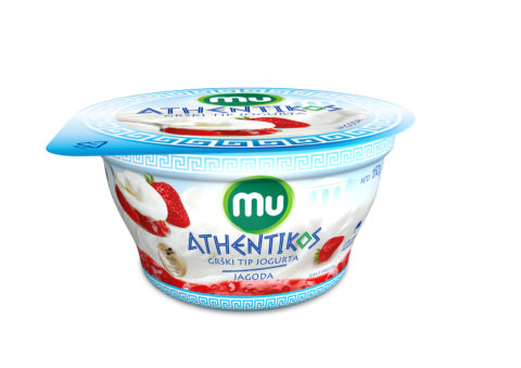 Mu Athentikos yoghurt; strawberry