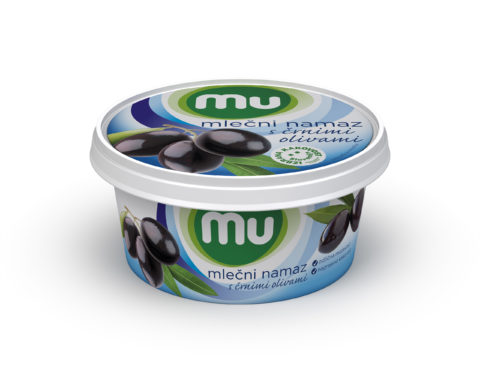 Mu milk spread with black olives