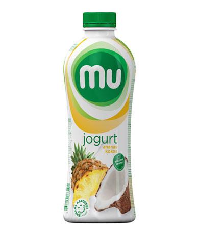MU tekoči sadni jogurt ananas, kokos; plastenka