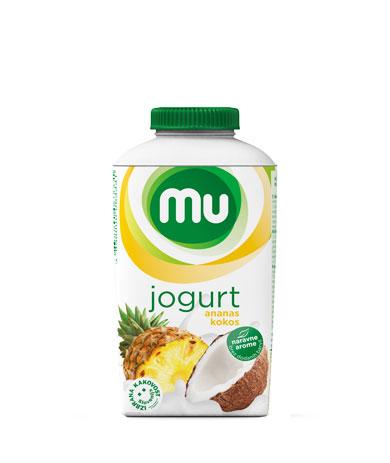 MU tekoči sadni jogurt ananas, kokos; TT