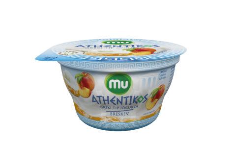 Mu Athentikos jogurt; breskev