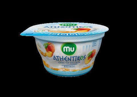 Mu Athentikos yoghurt; peach