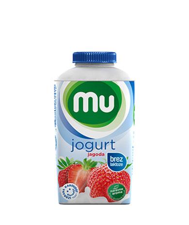 MU tekoči sadni jogurt jagoda, brez laktoze; TT