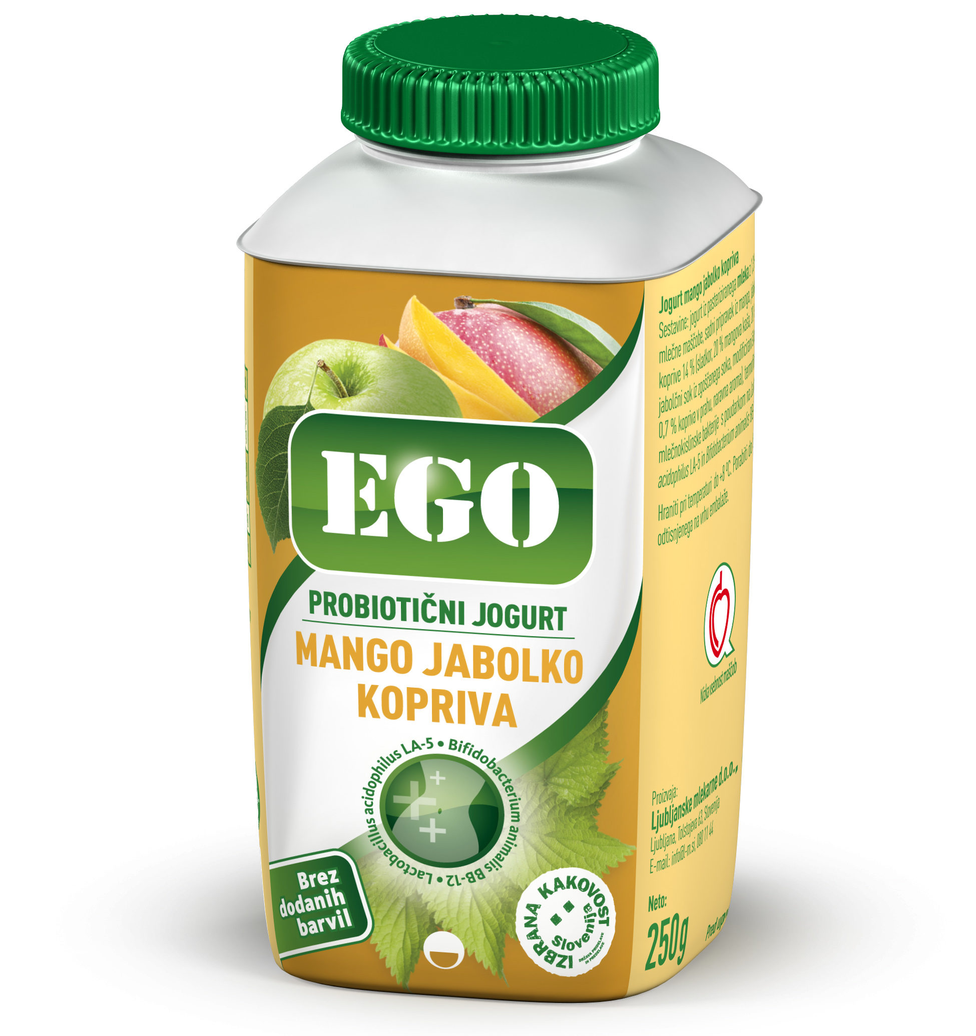 Ego tekoči, probiotik; mango-jabolko-kopriva