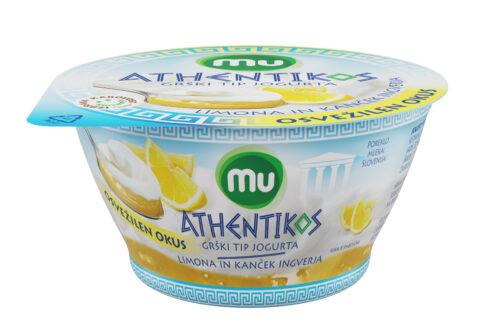 Mu Athentikos jogurt; limona in kanček ingverja